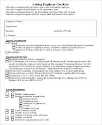 sample employee exit form 9 examples in word pdf