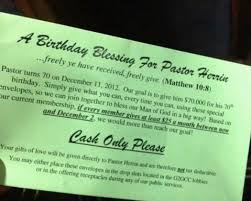 church wants to celebrate pastor s birthday with 70k gift