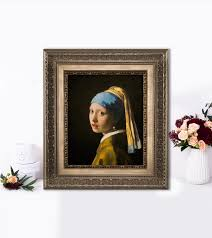 vermeer girl with pearl earring painting purchase a 3d re creation of girl with a pearl earring by vermeer