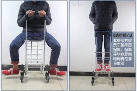 folding portable stair climbing shopping cart ladder climb