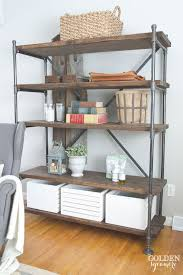 Wood For Shelves Making by 25 Best Wood Shelving Units Ideas On Pinterest Shelving Units
