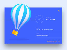 balloon delivery walnut creek ca delivery status ui by daniel dribbble