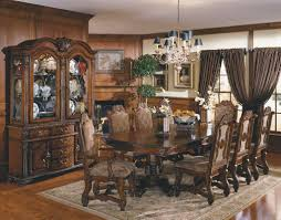china cabinet dining room table with china cabinet thomasville