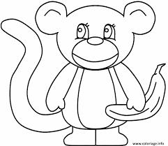 coloriage un singe avec une banane jecolorie com