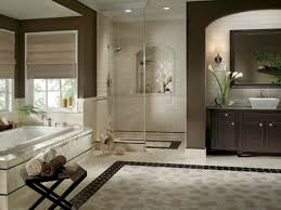 bathroom fashionable powder room design with beige wall color