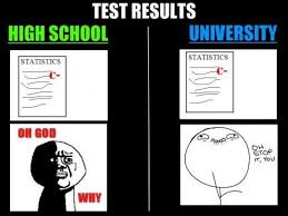 Funny High School Memes - test results high school vs university weknowmemes