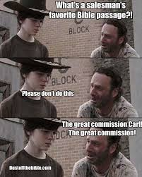 Rick And Carl Meme - carl walking dead christian meme great commission christian meme