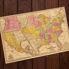 Vintage United States Map by Online Get Cheap United States Map Poster Aliexpress Com