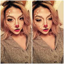 christmas makeup holiday makeup rudolph reindeer deer