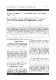 design development and testing of an areca nut dehusking agri