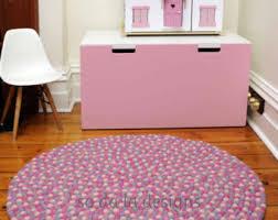 Pink Nursery Rugs Felt Ball Rug Etsy