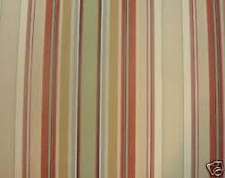 Orange Curtain Material Marson Remake Wide Stripe Curtain Fabric Terracotta Orange Green