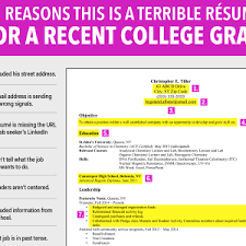 excellent resume for recent grad business insider reasons this is