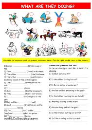present continuous practice esl worksheets of the day