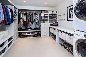 Laundry Room Cart - contemporary closet with carpet u0026 built in bookshelf zillow digs
