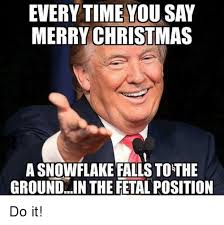 Merry Xmas Memes - everytime you say merry christmas a snowflake falls to the groundin