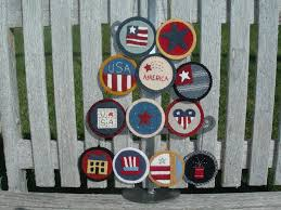 felt americana themed ornaments pattern by the garden moon