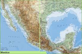 mexico map in spanish beautiful map of mexoco thefoodtourist