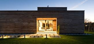this single storey house in poland clad almost entirely in cedar