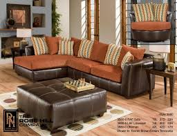 Orange Living Room Set Hill Furniture Trapper Brown Terracotta Complete