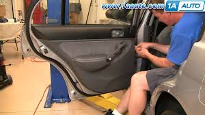 How To Replace Exterior Door by How To Install Replace Remove Rear Door Panel Honda Civic 01 05