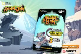 animaljam gift card the animal jam whip membership card animals