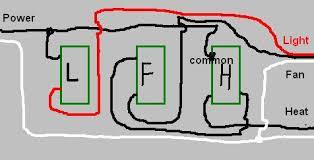 Bathroom Exhaust Fan Light Heater Bathroom Electrical Wiring Three Switches Bathroom Exhaust Fan
