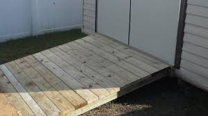 How To Build A Garden Shed Ramp by Shed Ramp Youtube