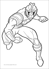 power rangers color page coloring pages for kids cartoon