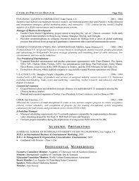 Business Development Resumes Entertainment Executive Resume Example