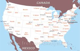Map Of Us Capitals Maps Of The United States Map Usa With Major Cities Images Inside