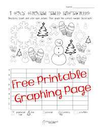 free christmaswinter graphing worksheet kindergarten first snowman