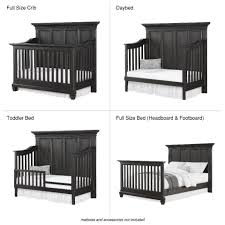 Convertible Crib Bed by Bertini Nashville Knox 4 In 1 Convertible Crib Weathered