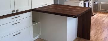 plan de travail noyer table comptoir bloc de boucher et ilôt en bois massif