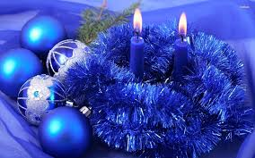 Large Blue Christmas Decorations by Comfortable Blue Christmas Decorations On Decoration With
