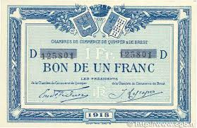 chambre de commerce brest 1 franc regionalism and miscellaneous quimper et brest 1918