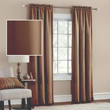 mainstays thermal solid woven window panel pair multiple colors
