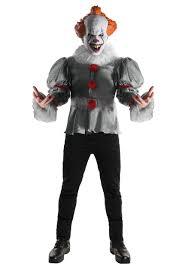 it clown halloween mask deluxe it clown movie costume