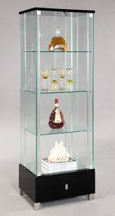 curio cabinet modern curio cabinetdeas with white paint walls