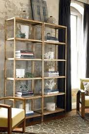 Silver Bookshelf South Shore Decorating Blog Mixed Metals Pops Of Gold And