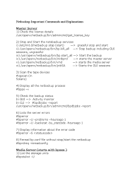 lexisnexis vi code netbackup important commands and explanations command line