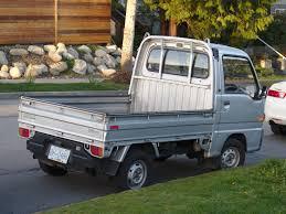 subaru truck old parked cars vancouver subaru