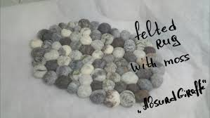 Pebble Rug Felted Stone Rug Felted Pebble Mat Bath Mat Multi Color