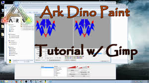 ark survival evolved tutorial on dino painting using gimp to