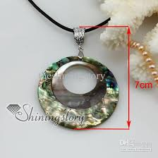 necklace with shell pendant images Wholesale round patchwork shell pendant necklace sea shell jpg
