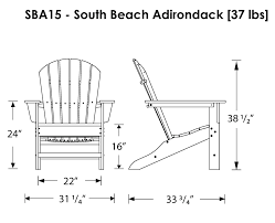 Extra Large Adirondack Chairs Polywood South Beach Adirondack Chair