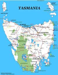 map of tasmania australia tasmania map