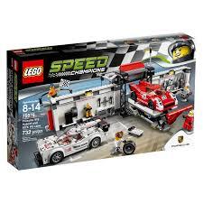 porsche petron lego speed champions porsche 919 hybrid and 917k pit lane 75876