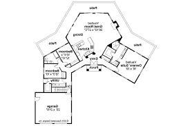 one level house plans with angled garage