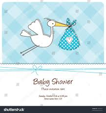 Shrimant Invitation Card Baby Shower Invitation Template Cute Baby Stock Vector 75178519